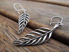 Silver Leaf Earrings, Leaf Earrings, Sterling Silver Earrings, UK Handmade