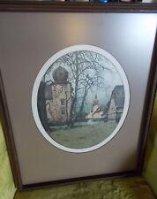 Josef Eidenberger Kottingbrunn Castle Austria Signed Framed Etching