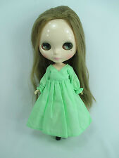 Blythe Outfit Handcrafted nightgown pajamas dress basaak doll green 955-12