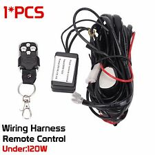 40A 12V LED Offroad Work Light Bar Remote Control Wiring Harness & Switch kit