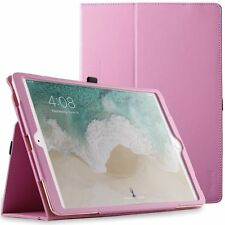 For iPad Pro 10.5 Case Hot Pink Poetic【SlimFolio】Slim Leather Stand Folio Cover