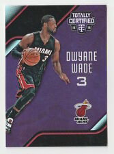 2015/16 TOTALLY CERTIFIED DWYANE WADE PURPLE REFRACTOR CARD #112 NUMBERED 30/50