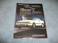 "1988 Toyota Celica GT-S Vintage Ad ""The Power and the Glory"""