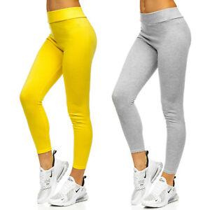Leggings Sporthose Trainingshose Leggins Unifarben Fitness Damen BOLF Slim Fit