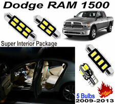 5pcs LED Interior Light Kit Xenon White Room Lamps For Dodge RAM1500 2009-2013