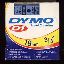 1x DYMO D1 label cassette 19mm Farbband 45806 BLACK / BLUE s0720860 für LABEL