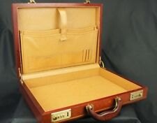 Sublime Mahogany Executives Vintage Attache Case Briefcase