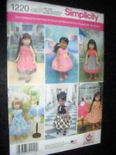 "18"" DOLL  Vintage Dresses NEW Simplicity 1220 Pattern Fits American Girl"