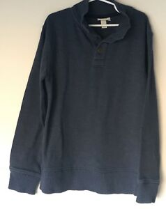 Cherokee Boys Sweater Blue long sleeve cotton holiday christmas size M (8 / 10)
