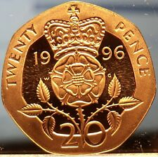 Great Britain 20 Pence, 1996 Cameo Proof~Only 100,000 Minted~Free Shipping