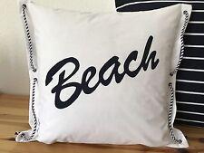 1 taie d'oreiller Maritime plage blanc/Bleu 50x50cm