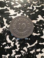 U/D Germany Traunstein 10 Pf. P.O.W. Camp Notgeld Token (1 Coin Only)