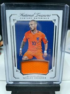 2018 National Treasures Soccer WESLEY SNEIJDER Match Worn Materials Patch 46/99