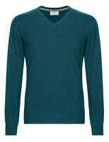 "Men`s New Marks & Spencer Cotton Rich V-Neck Jumper Size XL 44"" Chest Green"