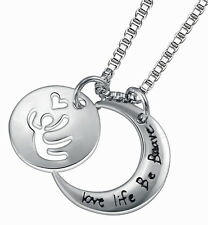 Love Life Be Brave Necklace Dancing Person Heart Statement Message Encouragement