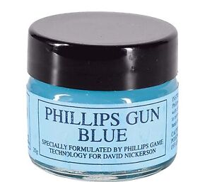 PHILLIPS BLUE GUN BLUING PASTE TOUCH UP GUNSMITH REPAIR MAINTENANCE 20g JAR 310
