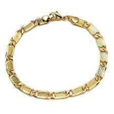 "Fashion Bracelet 8"" Charms Chain 18K Yellow Gold Filled Men's/Women's Link"