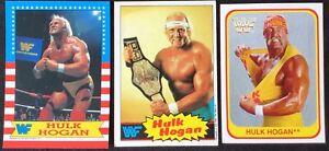 1985 Topps HULK HOGAN Rookie #1 + 1987 Topps Hogan #1  + 1991 Merlin Hogan #129