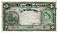 1953 4 SHILLINGS BAHAMAS GOVERNMENT