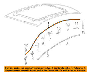 Lincoln FORD OEM 09-15 MKS-Roof Molding Trim Left 8A5Z5451729A