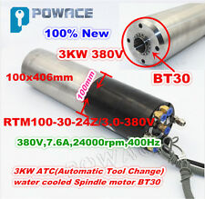 3KW ATC Water Cooled CNC Automatic Tool Change Spindle Motor 380V BT30 24000rpm