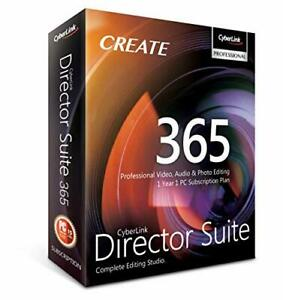 Cyberlink Director Suite 365   1 Year   1 PC Subscription - Professional Vide...