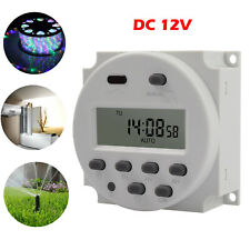 DC 12V 16A Digital LCD Electronic Time Relay Switch Timer + Waterproof Cover