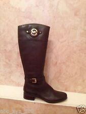 NIB Michael Kors Leather Stockard Tall Riding Boots DARK COFFEE BROWN 10 M