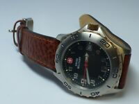 Swiss Military Men's Quartz Watch W/ Leather Band - Works