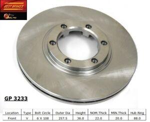 Disc Brake Rotor-DX Front Best Brake GP3233