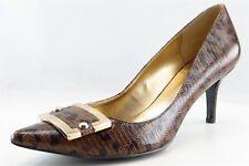 Nine West Pumps, Classics Gold Leather Women Shoes Size 8 Medium (B, M)