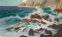 Art Print Wave Sunny Seascape Oil Painting HD Giclee Printed on Canvas P1198