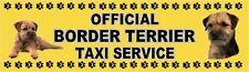 BORDER TERRIER OFFICIAL TAXI SERVICE  Dog Car Sticker  By Starprint