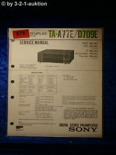 Sony Service Manual TA A77E / D709E Amplifier  (#0876)