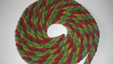 FABRIC PIPING CORD TRIM DECORATIVE/ CURTAIN ROPE PER METRE RED GREEN 10MM
