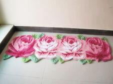 Charming 4 PCS Rose Flower Bath Rug Floor Mat Door Rug Best Wedding Gift Style A