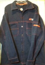 Boost Mobile Custom Sportswear Sweat Shirt Size L Blue Button Front