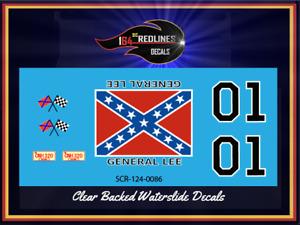 1/24 'General Lee' Decal Set SCR-124-0086