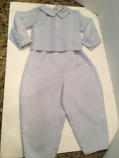 Royal Child 24 Month Baby Boy Long Baby Blue Romper With Over Shirt Clothes
