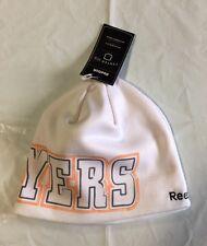 Philadelphia Flyers Knit Beanie Toque Winter Hat Skull Cap White fleece lining