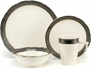 Cuisinart CDST1-S4AE Stoneware Jenna Natural Collection 16-Piece Dinnerware Sets