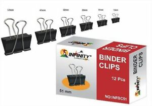 Binder Clip for binding loose papers  51mm shops use office school Lot of 60