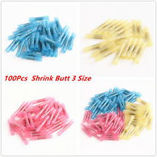 Heat Shrink Butt Electrical Wire Crimp Terminal Connectors 100pcs Assorted 22-10