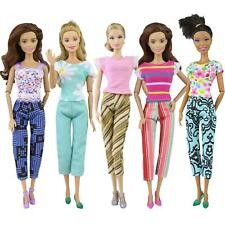 1Set Clothes Outfits Blouse Top Fashion Pants Trousers For 11.5 inch Doll Random