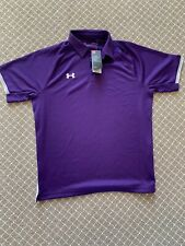Under Armour Purple Large Men's Rival Polo With Tags