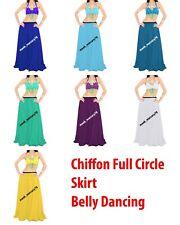 Chiffon Dance Full circle skirt Belly Dance Tribal Dance Wear Woolrich Skirt C12