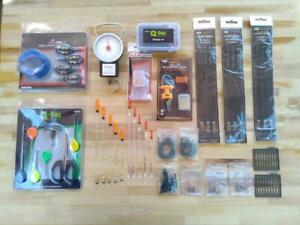 New Carp Fishing Set Up Kit Starter Pack Floats Hair Rigs End Set Scales + More