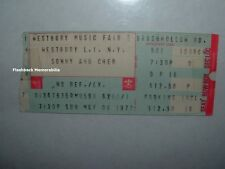 SONNY & CHER 1977 Concert Ticket Stub LONG ISLAND NY Westbury Music Fair RARE