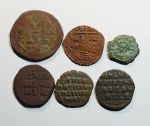 ANCIENT Byzantine Coins - LOT OF 6 - A031