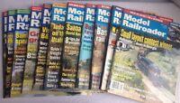11 Model Railroader Magazines 2001-2004